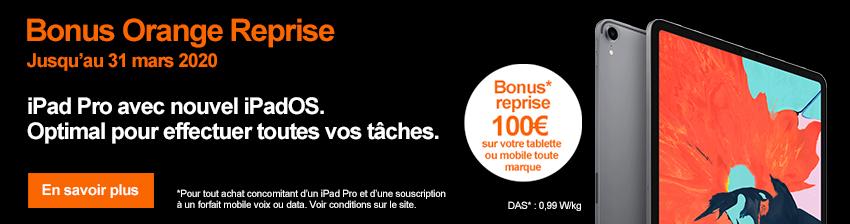 Bonus APPLE iPad Pro 11 et 12.9