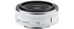 Nikon 1-Mount 10 mm 2.8 40,5 mm Objectif (adapté à nikon 1) blanc
