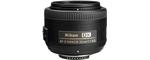 Nikon AF-S DX Nikkor 35 mm F 1.8 G 52mm Objectif (adapté à nikon F) noir